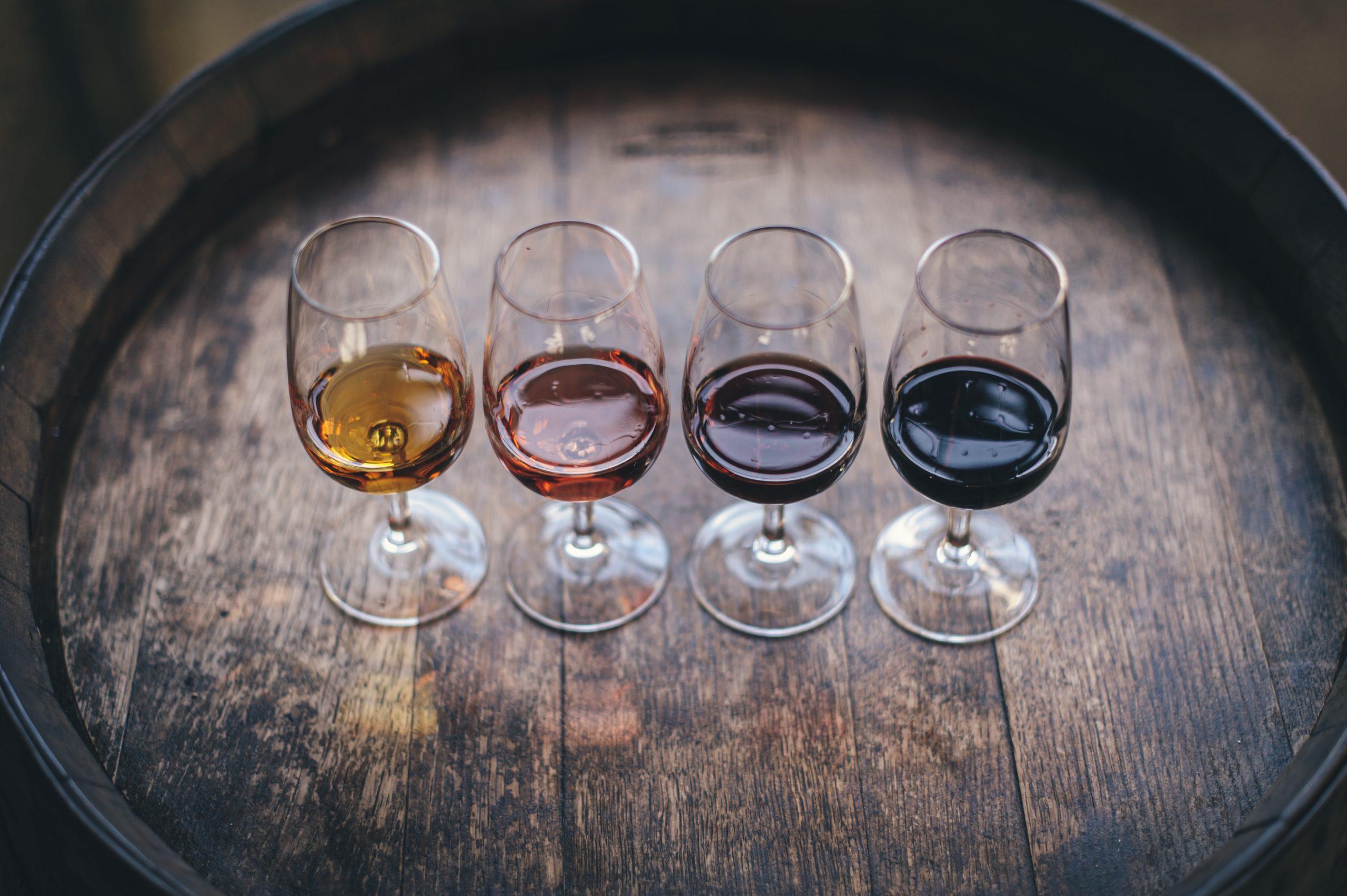 4 verres de vins
